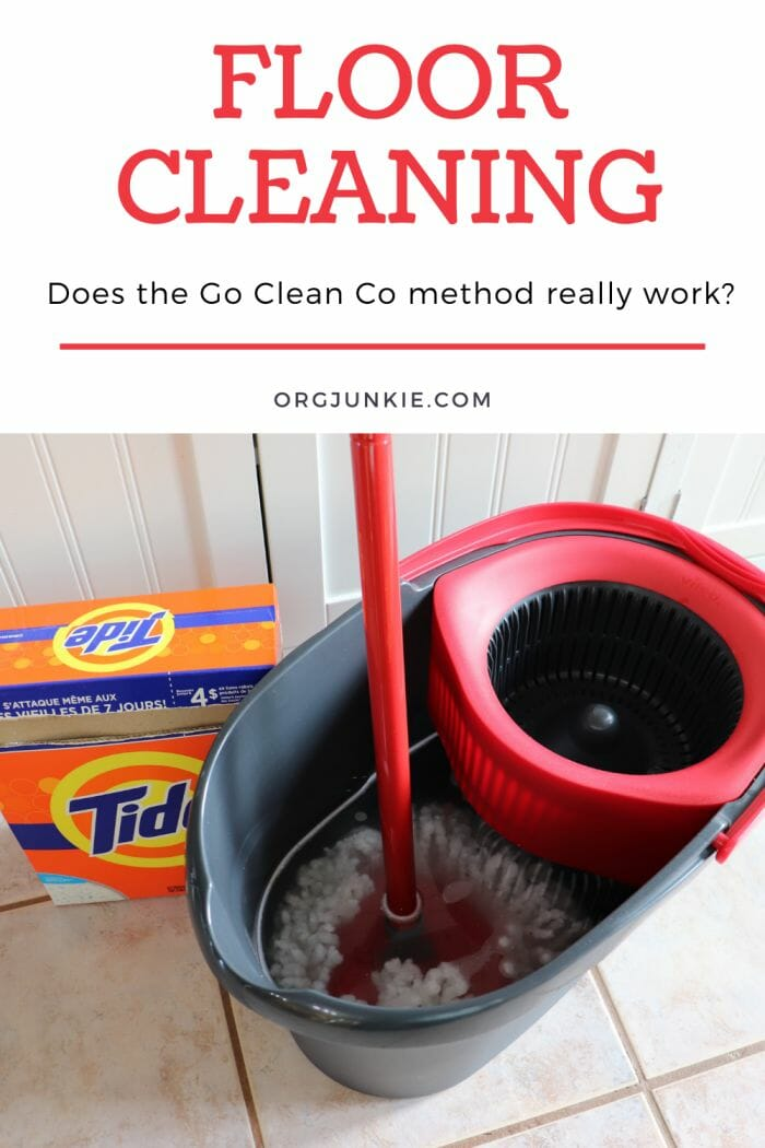 My Experiment with the Go Clean Co Floor Cleaning Method at I'm an Organizing Junkie blog