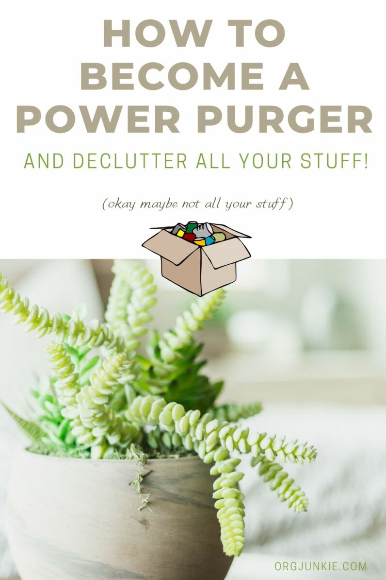 My 2020 Purge Piles ~ How You Too Can Become a Power Purger! at I'm an Organizing Junkie blog