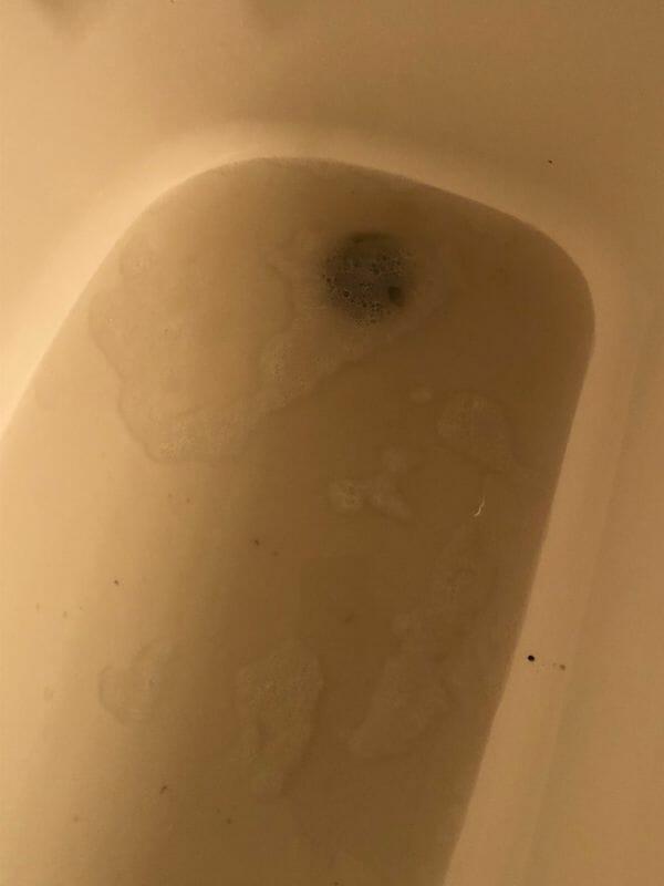 Dirty floor water