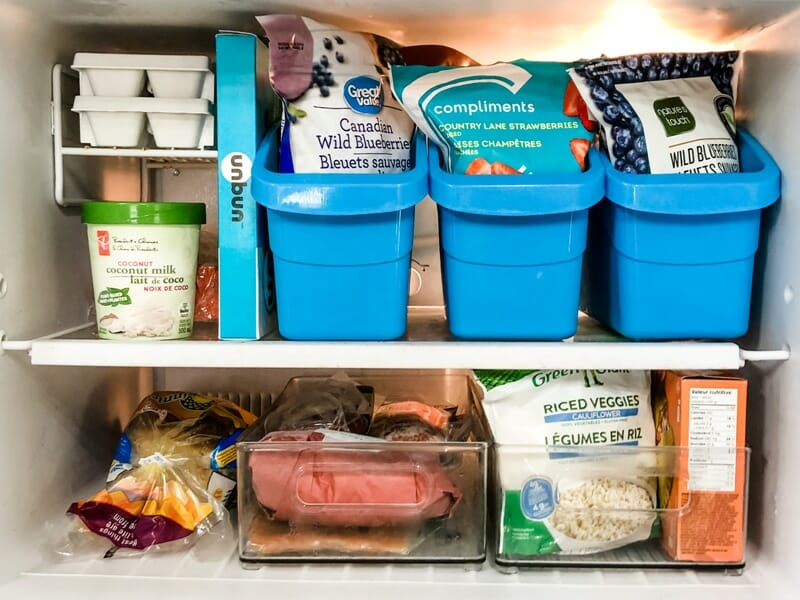 Small Organized Spaces ~ Organized Fridge Freezer Fixes After