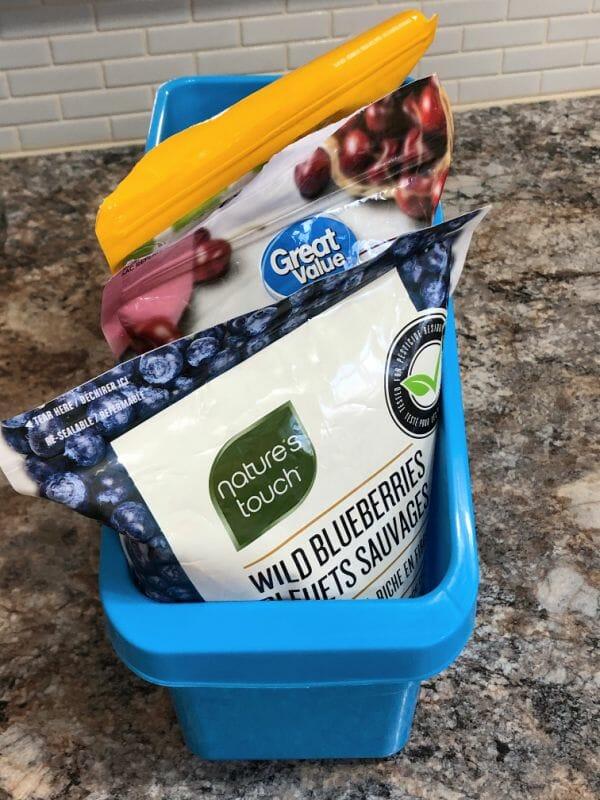organized fridge freezer fixes - fruit