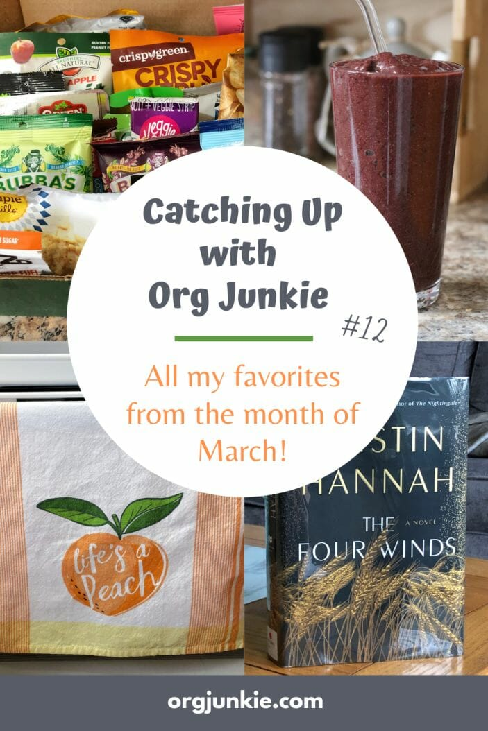 Catching Up with Org Junkie #12 ~ March 2021 Favorites: Snack Box, Yes Day, Perfect Dish Cloths + more! at I'm an Organizing Junkie blog