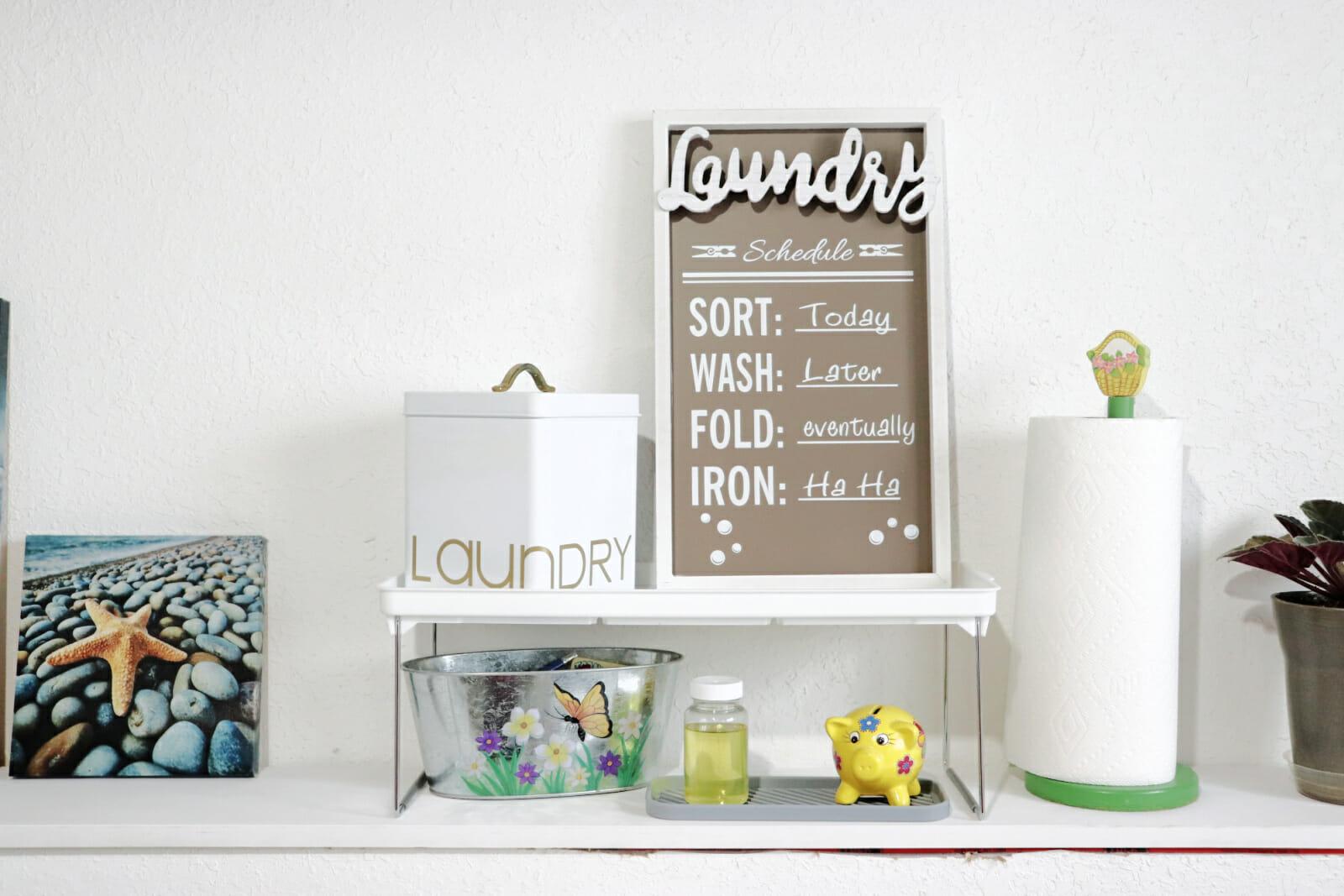 mini laundry room makeover