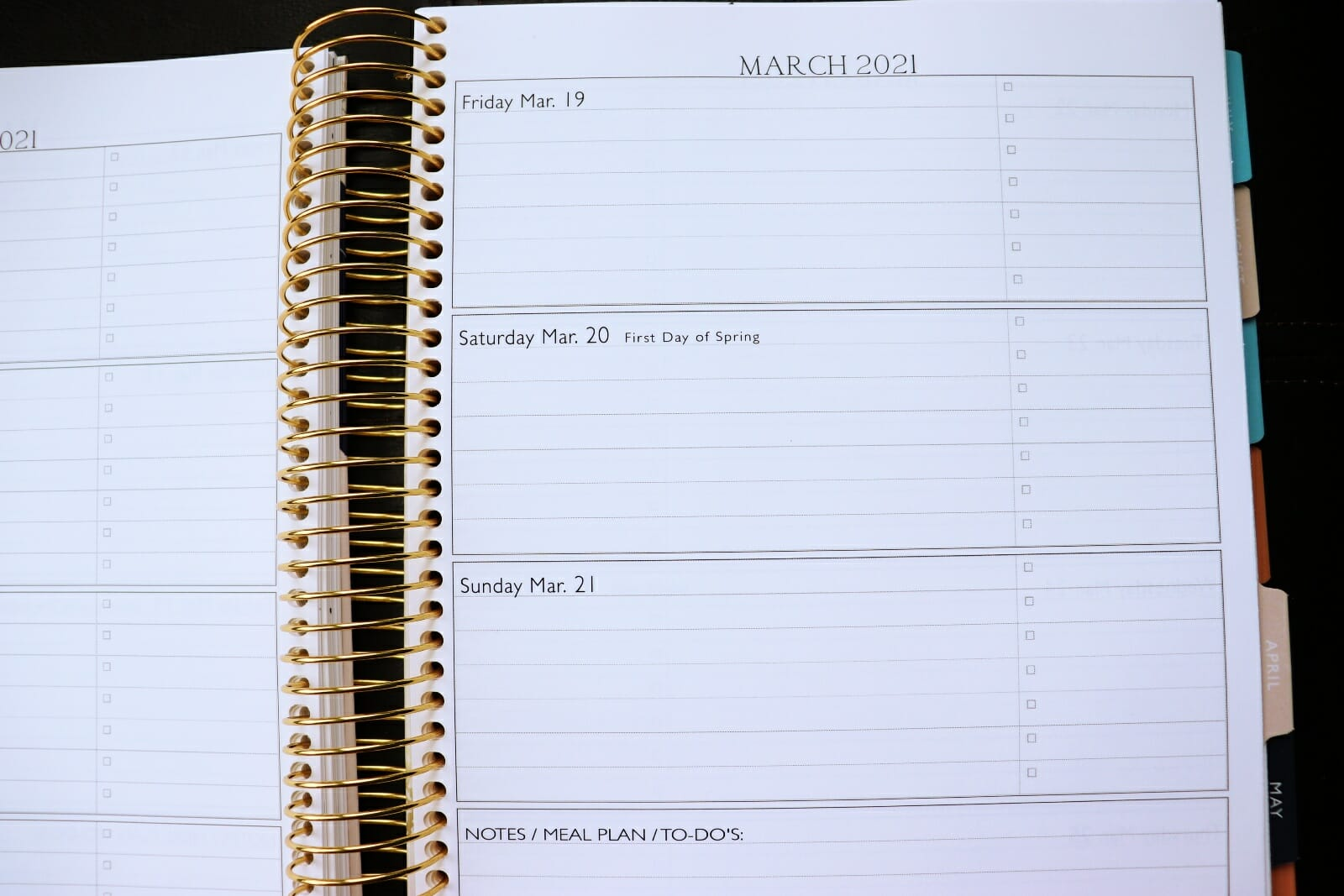 Simply Yours Day Planner Inside