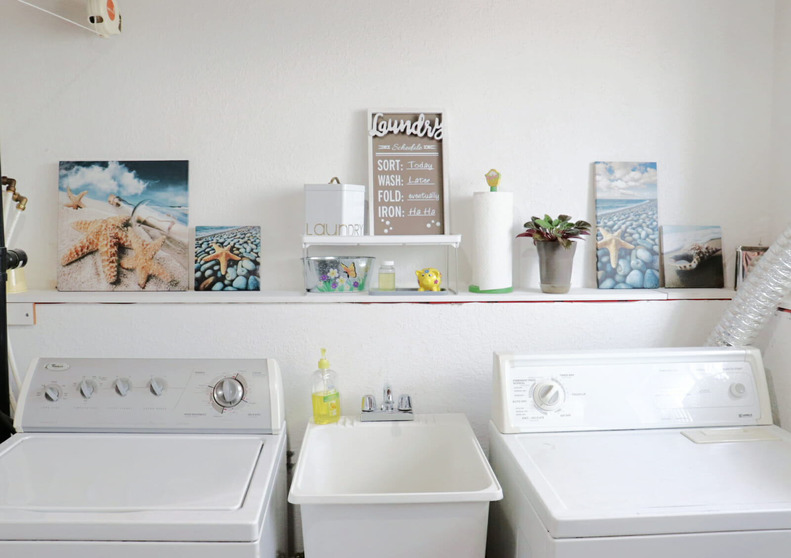 mini laundry room makeover after