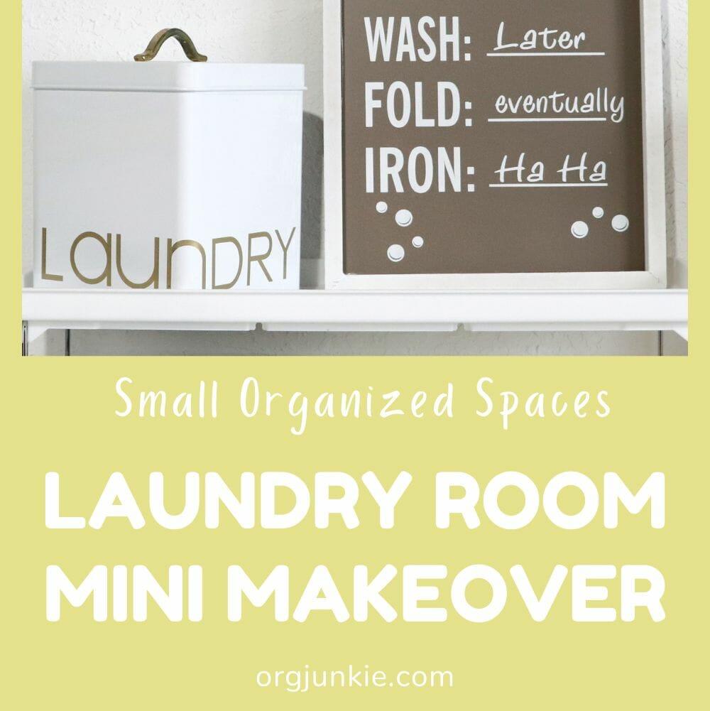 Laundry Room Mini Makeover