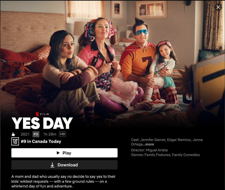 Yes Day on Netflix