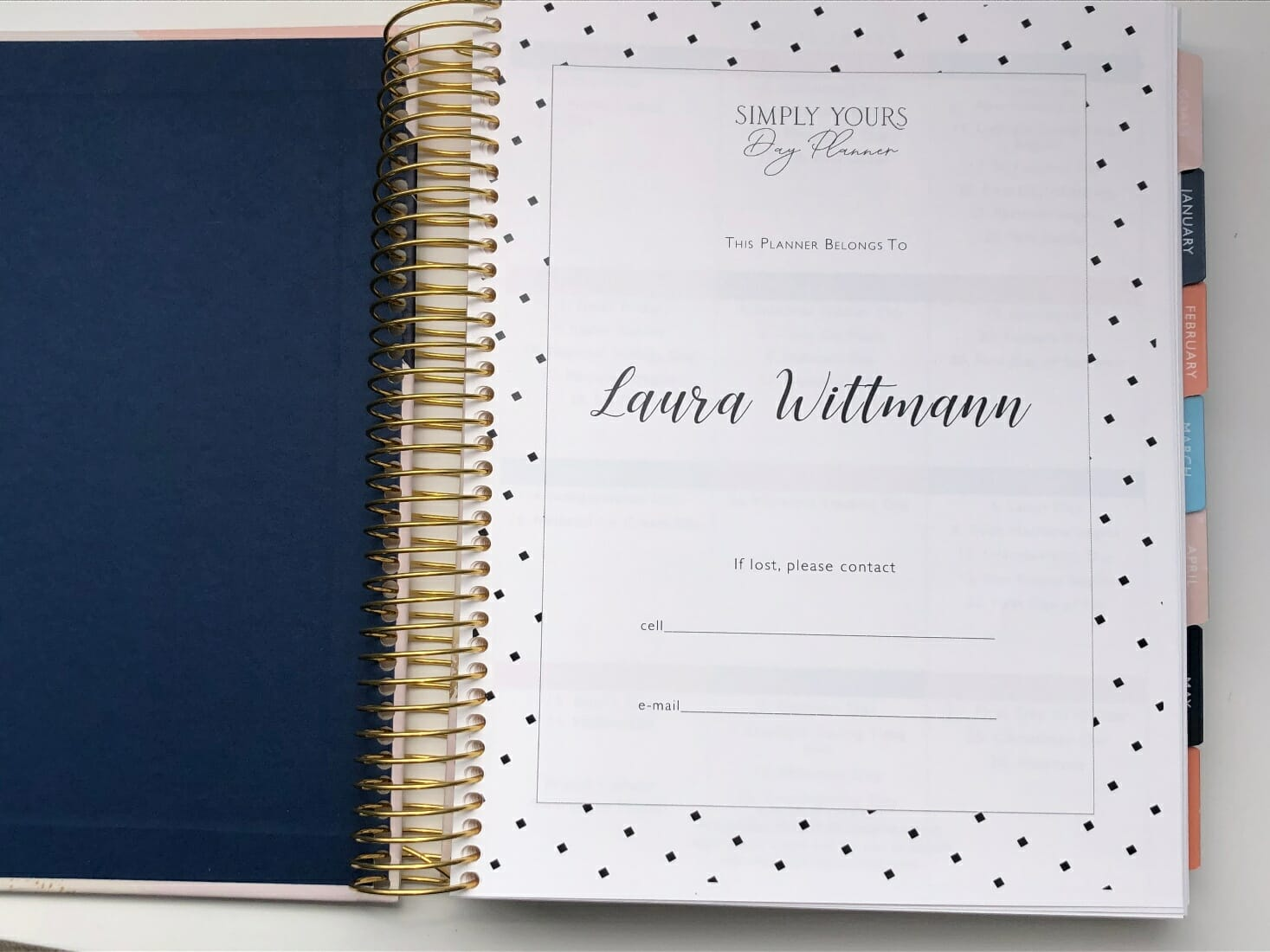 Simply Yours Day Planner Personalized