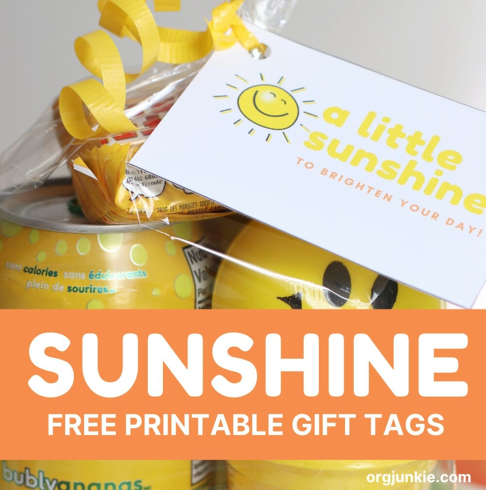 A Little Sunshine To Brighten Your Day Free Printable Sunshine Gift Tags