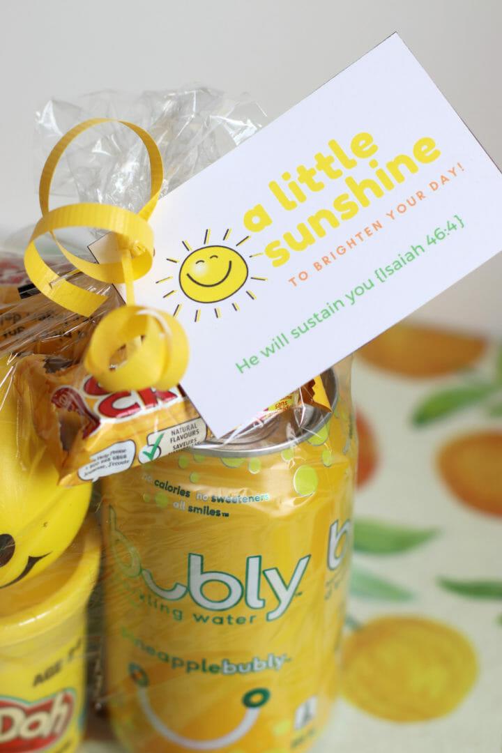 Free printable sunshine gift tags