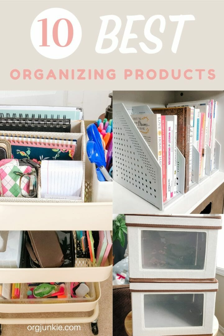 My Top 10 Best Organizing Products Revealed at I'm an Organizing Junkie blog