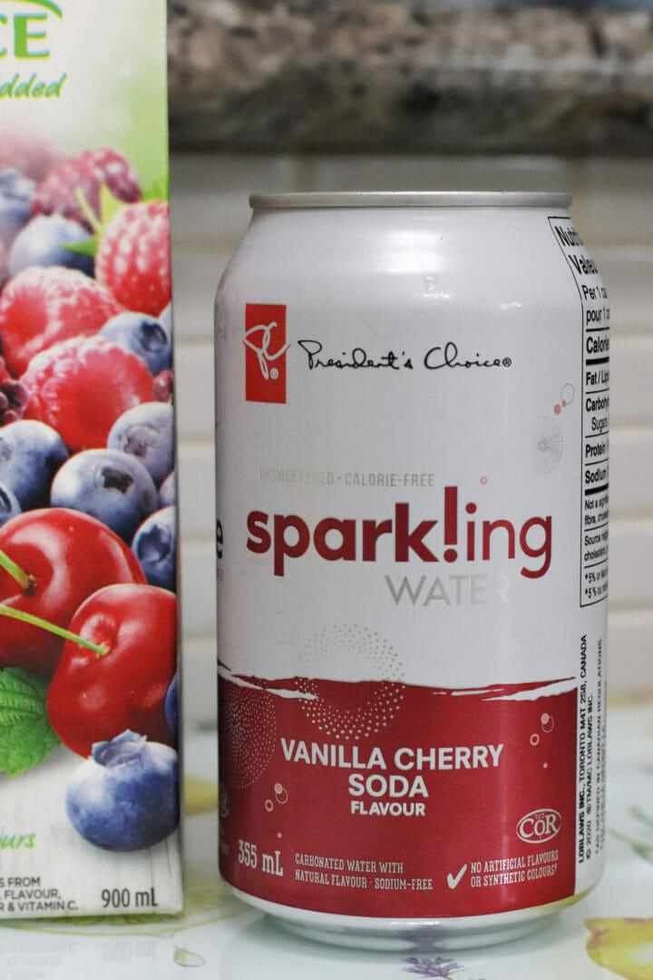 President's Choice Vanilla Cherry Sparkling Water
