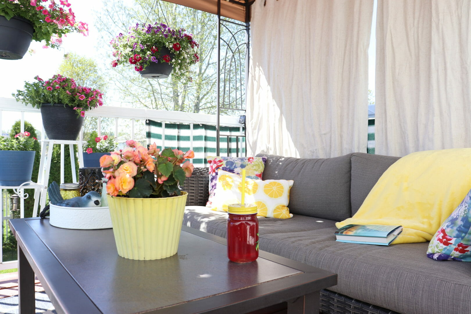cozy private deck oasis