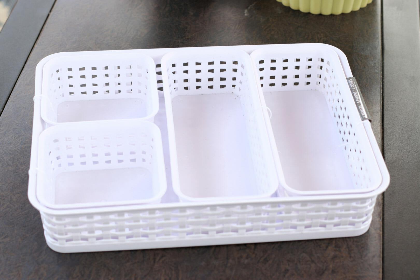 basket set for organizing drawers