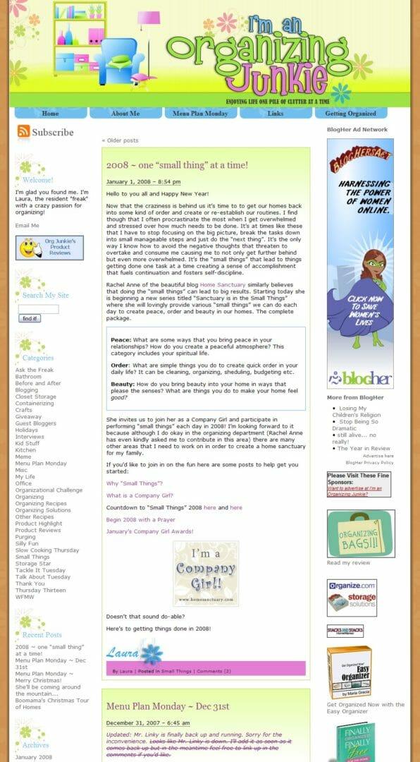 first blog design