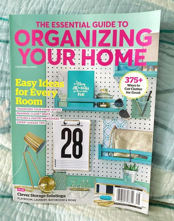 The Essential Guide to Organizing Your Home magazine